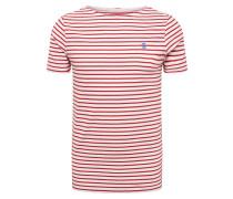 Shirt 'Xartto' merlot / weiß