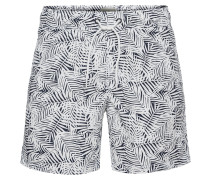 Badeshorts 'Swimwear' schwarz / weiß