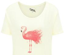T-Shirt hellgelb / rot