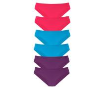 Slip (6 Stck.) blau / lila / pink
