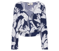 Bluse 'like Gold' weiß / navy