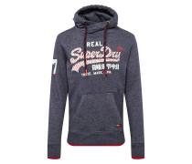 Sweatshirt 'vintage' navy / weiß