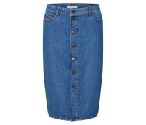 Rock 'ocs HR A Shape Skirt' blue denim