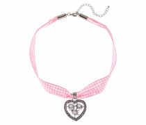 Halsband rosa / silber