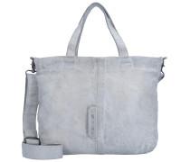 Handtasche Leder 29 cm grau