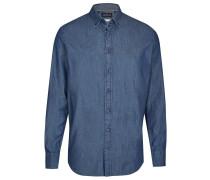 Hemd in Jeansoptik nachtblau