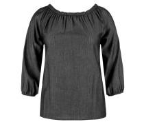 Zarte Off Shoulder-Bluse schwarz / silber