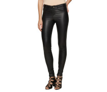 Stretch Lederleggings schwarz