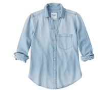 Bluse 'Chambray' blue denim