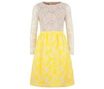 Kleid creme / gelb