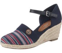 Sandaletten beige / navy / mischfarben