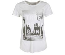 T-Shirt Palms basaltgrau / hellgrau