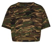 T-Shirt grün / schwarz