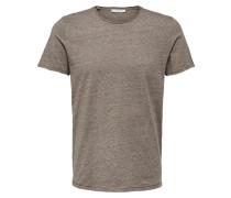 Basic T-Shirt braunmeliert