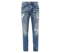 Tubx Straight: Jeans mit Destroyes