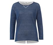 Pullover 'Lisa' dunkelblau / weiß