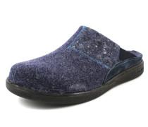 Pantoletten nachtblau / dunkellila