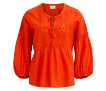 Bluse orangerot