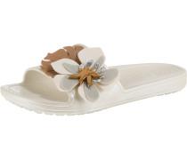 Slides 'Sloane' braun / weiß