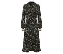 Kleid khaki / mischfarben / schwarz