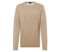 Pullover 'CN Slub Pkt2Tone' beige