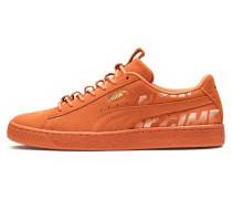 Sneaker 'Suede' dunkelorange