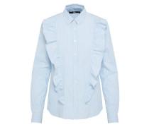 Bluse 'ezipine' hellblau / weiß