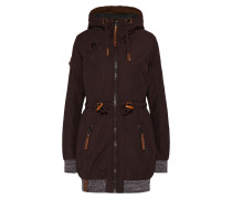 Outdoor Jacke 'Spank me right' aubergine
