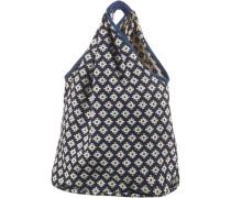 Strandtasche beige / dunkelblau