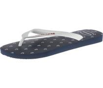 Top Nautical offene Schuhe marine / weiß
