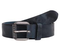 Ledergürtel 'camon' blau / silber