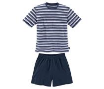 Kurzer Pyjama blau / grau