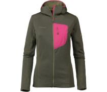 Fleecejacke 'Aconcagua Light' oliv / pink