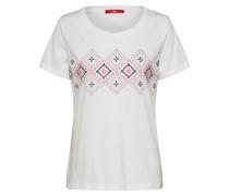 T-Shirt mischfarben / weiß / offwhite