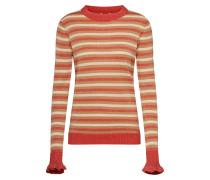 Pullover 'Estel' beige / rot
