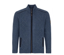 Strickjacke 'Kalmund' blue denim