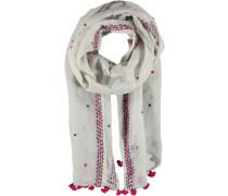 Baumwoll-Leinen Schal grau