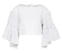Bluse 'Inara' grau / weiß