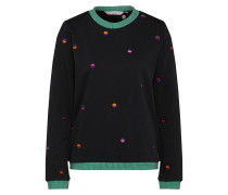 Sweatshirt 'Ivara' pastellgrün / schwarz