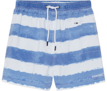 Badeshorts 'the Wedge' blau / weiß