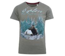 T-Shirt hellblau / oliv