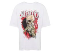 Shirt 'metallica' mischfarben / weiß
