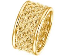 Ring in Fantasiekettengliederung gold