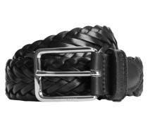Geflochtener Leder-Gürtel schwarz