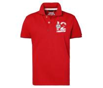 Polo 'SS 12M Newport' rot / weiß