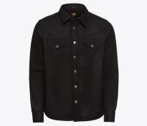 Jacke 'wool Overshirt' schwarz