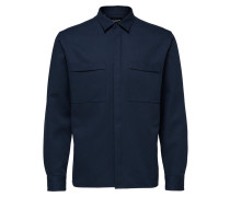 Overshirt Jacke navy