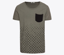T-Shirt 'dinelo T/s' braun / schwarz