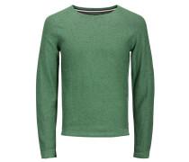 Klassischer Strickpullover grasgrün