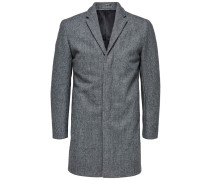 Woll Mantel graumeliert